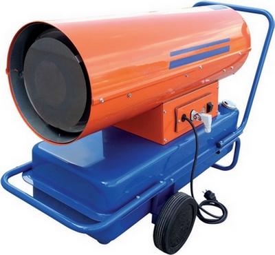 canon à air chaud à combustion directe à pompe